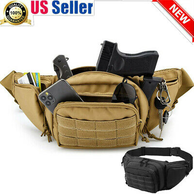 $19.88 • Buy Fanny Pack Holster Concealed Carry Gun Pistol Pouch Tactical Fanny Pack Holster