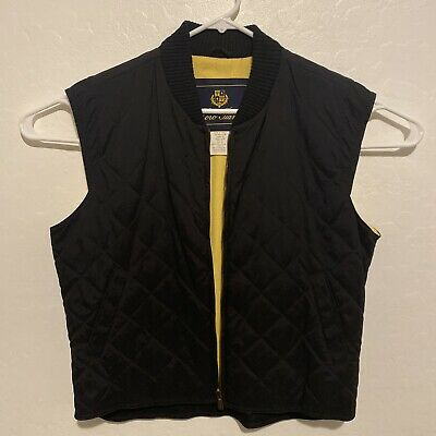 $349.95 • Buy LORO PIANA Large Quilted Luxury Vest Jacket - Made In Italy - Yellow Black