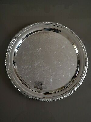 £15 • Buy Butler Cavalier Silver Plated Round Tray - Made In England, Dia - 37 Cm.