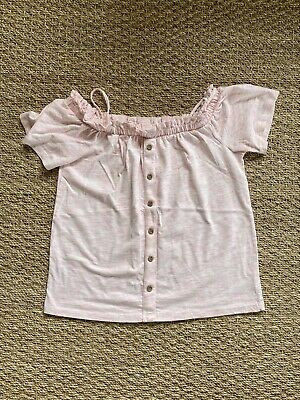 £3 • Buy Next White And Pink Off The Shoulder Tops Size 12yrs