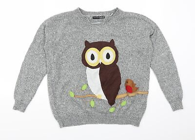 £5 • Buy Atmosphere Womens Grey   Pullover Jumper Size 10  - Owl