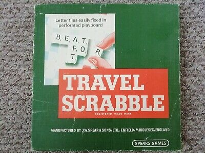 £14.99 • Buy Travel Scrabble By Spear's Games Vintage Free Postage