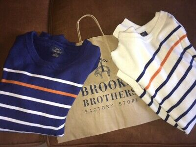 $48.99 • Buy LOT Of 2: Brooks Brothers Men's Size XL Sweater Crew Neck Cashmere Blend Cotton