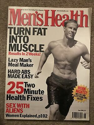 £1 • Buy Mens Health Magazine June 2001 Turn Fat Into Muscle
