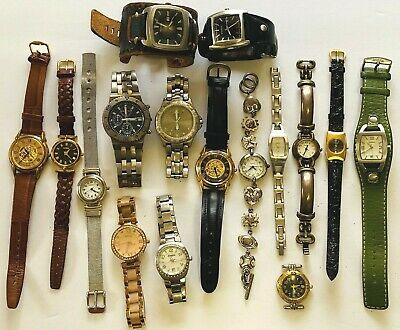 $160 • Buy 15pc FOSSIL Watch Lot W/ 1 Relic Men's & Women's For Parts Or Repair