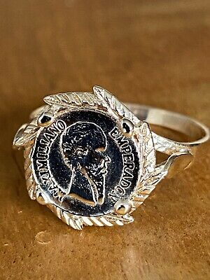 £109 • Buy 9ct Gold Maximilian Coin Ring ~ 1865 ~ Sovereign Style Mount ~ N ~ 2.1g ~ Fab!!