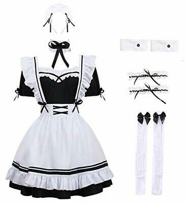 $48.59 • Buy  French Maid Outfit Anime Cosplay Maid Costume Womens Apron Dress Large Black