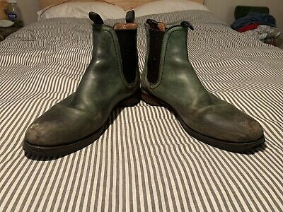 $21 • Buy Distressed Green Leather Frye Chelsea Boots Men's US 11