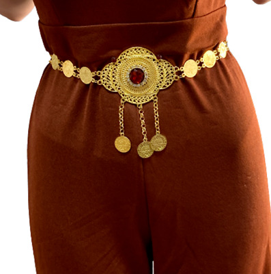 £25.04 • Buy Belly Belt  For Women Gold Color Turkish Coins Belt Jewelry Middle East