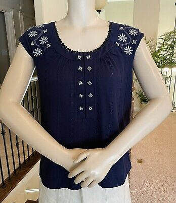 $ CDN21.30 • Buy NWOT ANTHROPOLOGIE Deletta Embroidered Top XS