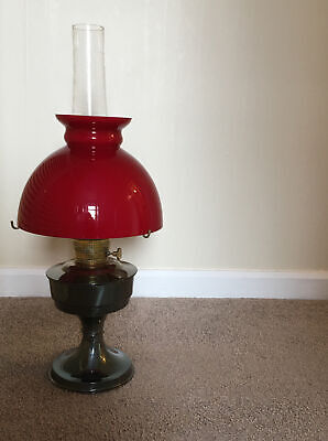 £84 • Buy Antique Alladin 23 Oil Lamp - Very Good Condition!! Blood Red Shade