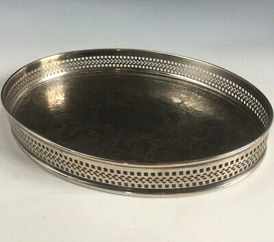 £9.95 • Buy Vintage CAVALIER Silver Plate Small Oval Chased Gallery Tray