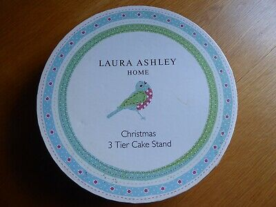 £34.99 • Buy Laura Ashley Christmas 3 Tier Cake Stand Bnib New Discontinued Boxed Lovely!!