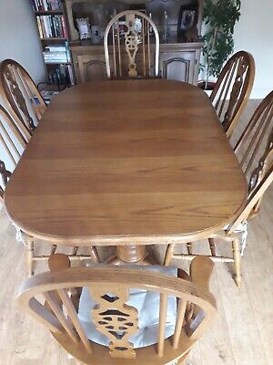£36 • Buy Extending Dinning Table & 8 Chairs + Matching Dresser