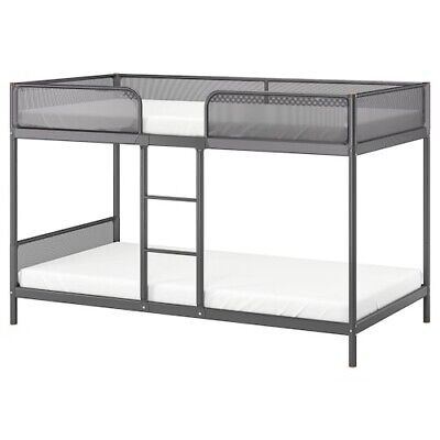 £35 • Buy Bunk Bed Frame, 90x200 Cm, Dark Grey, IKEA, For Kids And Adults.