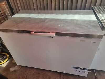 £250 • Buy Commercial Chest Freezer Steel Top White Workable Surface.