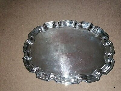 £5 • Buy Vintage Cavalier Silver Plated Tray