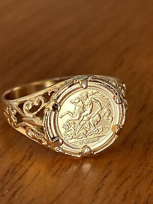 £95 • Buy Ladies 9ct St George's  Coin Ring Sovereign Style Mount ~ O.5 ~ 1.9g ~ Fab!!