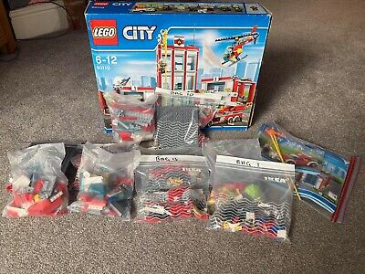 £33 • Buy Lego City Fire Station 60110 With Box & Manuals 100% Complete.