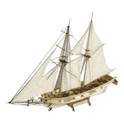 £12.77 • Buy 1:100 DIY Wooden Assembly Sailing Ship Model 3D Classic Boat Cutting Process TTY