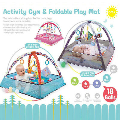 £69.72 • Buy Pink Baby Gym Activity Play Mat & Hanging Toys Infant Playmat For Tummy Time TTY