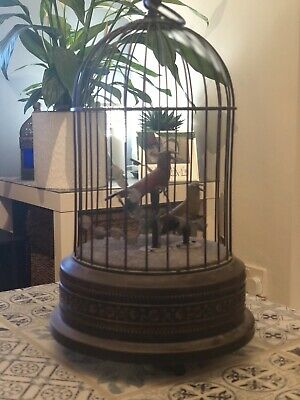 £350 • Buy Antique Automaton Copy Of Karl Griesbaum Automaton Birds Singing In A Cage