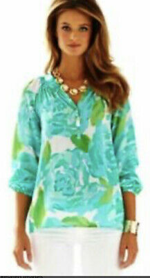 $74 • Buy LILLY PULITZER ELSA Top Poolside Blue First Impressions - S Small