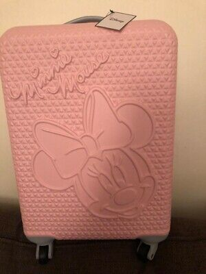 £64.99 • Buy Disney Minnie Mouse Pink Hard Shell Cabin Case Luggage Travel Suitcase BNWT