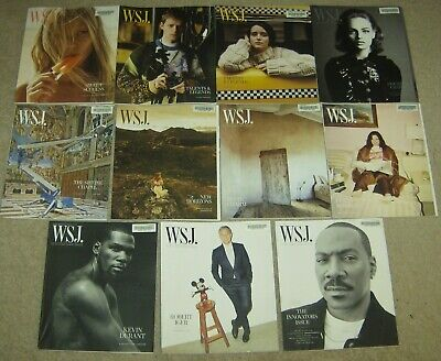 $29.88 • Buy Lot Of 11 Issues Of WSJ. Magazine 2019 Wall Street Journal Arts Culture Travel