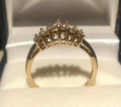 AU990 • Buy *14K YELLOW GOLD MARQUISE DIAMOND RING OVER 1/2 CARAT .55 Points~SIZE N 1/2~