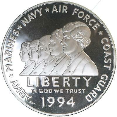 $45.33 • Buy 1994 P Women In Military Proof Commemorative 90% Silver Dollar US Coin