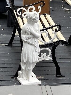 £99 • Buy Vintage Classical Greek Roman Garden Stone Statue Of Young Girl Painted White