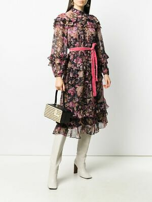 $395 • Buy AUTH ZIMMERMANN Lucky Floral Tiered Midi Dress AU 1