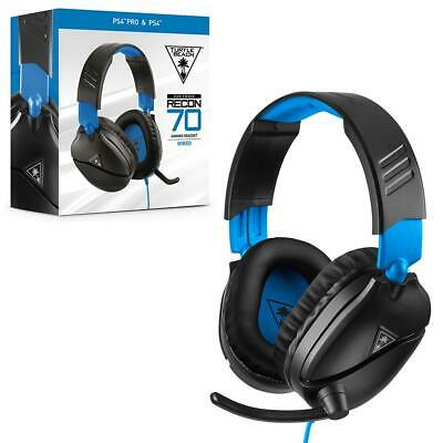 £11.99 • Buy Turtle Beach Recon 70P Black Blue Gaming Headset Switch PS4 Xbox One PC 3.5 Jack