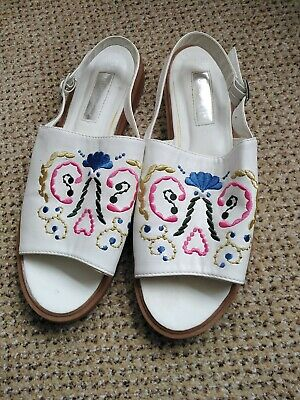 £6.99 • Buy Primark Atmosphere Size 6  White Embroidered  Sandals. BNWOT . ❤️