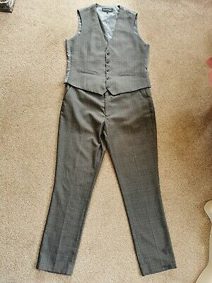 £30 • Buy Taylor & Wright Waistcoat & Trouser Suit, Large, 38 X33  Trousers 41 -43  Chest.