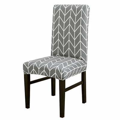 £2.99 • Buy 1/2/4/6pcs Dining Chair Seat Covers Stretchable Protective Slipcover Home Decor