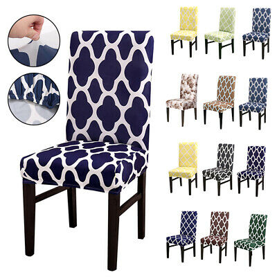 £3.99 • Buy Removable Printed Dining Chair Seat Covers Slip Stretch Wedding Banquet Party UK