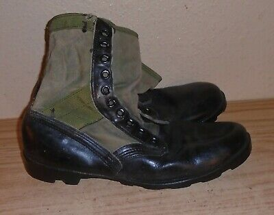 $25 • Buy Vintage  U S Military Jungle Combat Boots Mens 10.5 W Army