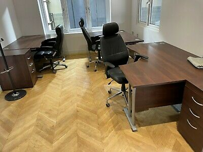 £350 • Buy Right And Left Hand Desks With Draws Full Set