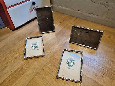 £14.50 • Buy Set 4 Vintage Retro 1940s 50s Picture Photo Frames Free Standing Silver Chrome