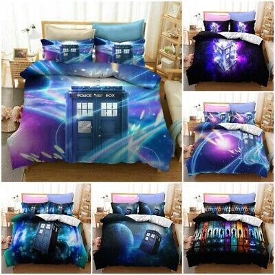 £23.99 • Buy Doctor Who Quilt Duvet Cover Bedding Set UK Size Single Double With Pillowcase