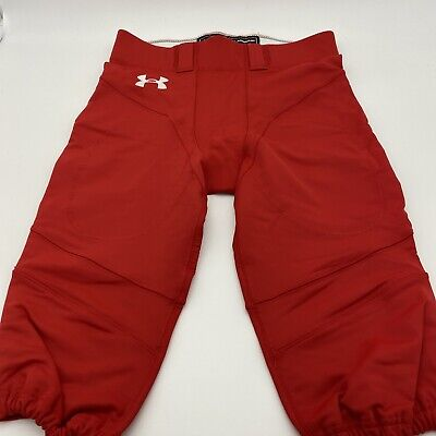 $18.99 • Buy Under Armour Red Football Pants Size L W/O Pads Authentic Game Pants NWOT