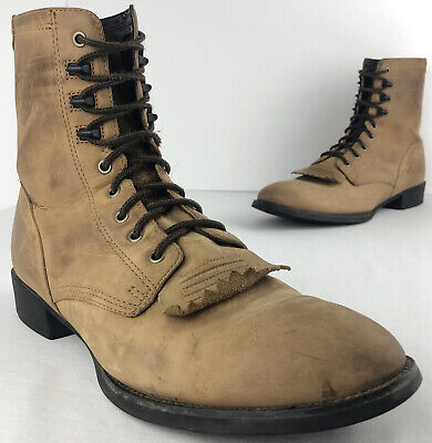 $59.99 • Buy Ariat Heritage Lacer Boots Distressed Tan Roper Leather Men's 10.5 D EUR 43.5