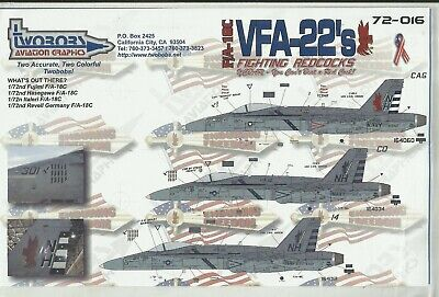£9 • Buy TwoBobs Decals 72-016 F/A-18C Hornet Decals In 1:72 Scale