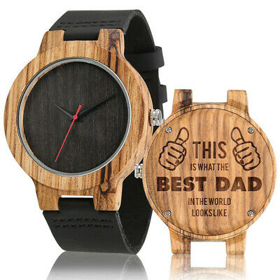 £12.77 • Buy Engraved Wooden Watch To My Dad I Love You Wood Watch Father's Day Birthday Gift