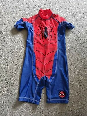 £4.99 • Buy Spiderman Kids All In One Swimsuit, Age 5 Years
