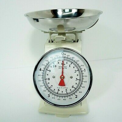 £5.95 • Buy Hanson Weighing Scales Metal 5KG Country Style Retro Working Kitchen D23