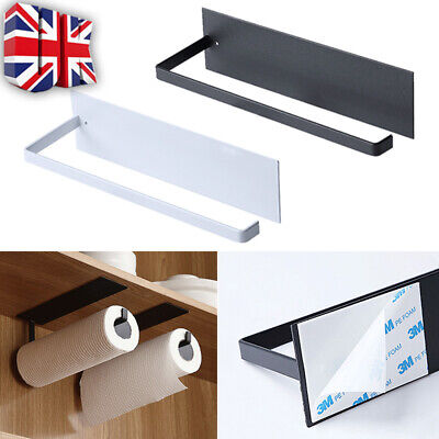 £6.59 • Buy Paper Holder Towel Rack Toilet Roll Wall Mount Tissue Self-Adhesive Kitchen UK