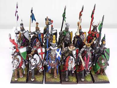 £149.99 • Buy BRETONNIAN KNIGHTS OF THE REALM X 12  Well Painted OOP Warhammer Bretonnia Army